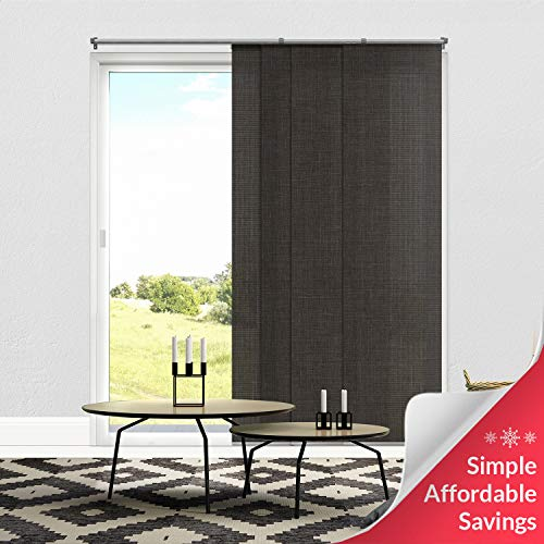 Chicology Adjustable Sliding Panels, Cut to Length Vertical Blinds, Nautical Grey (Light Filtering) - Up to 80'W X 96'H