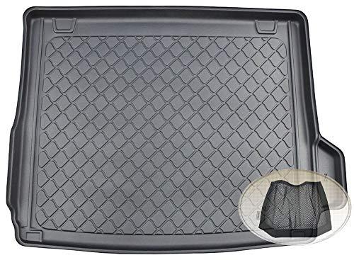 ZentimeX Z3294116 Gummierte Kofferraumwanne fahrzeugspezifisch + Klett-Organizer (Laderaumwanne, Kofferraummatte)
