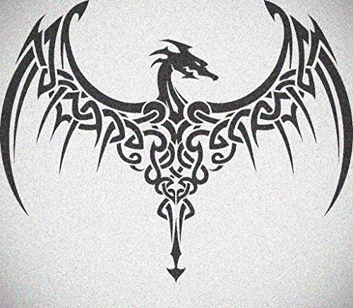 Wide Wing Celtic Knot Dragon Stencil Gothic Dragons Wall Painting Stencils