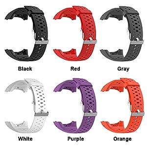 Correa de silicona de repuesto para reloj Polar M400 M430 GPS, correa, deportivo, con herramientas, color rosso