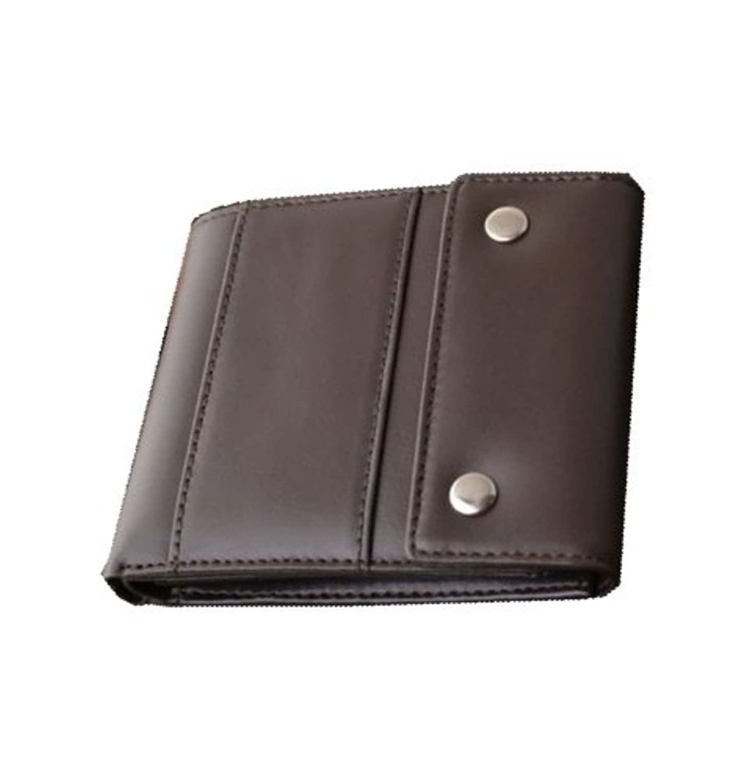 [Decoroso デコローゾ]  かっこいい大人のヴィンテージ調レザー短財布 (メンズ?紳士用?プレゼントCL-1664) (ブラウン)