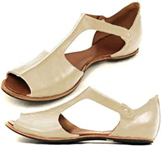 ✔ Hypothesis ☎ Roman Sandals for Women Open Toe Slide Slippers Ankle Strap Sandals Summer Beach Shoes