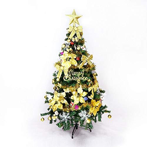 YUASIA Künstlicher Weihnachtsbaum 5 Fuß Mit Verschiedenen Dekorationen, Fichte Klappbaum Für Drinnen Und Draußen Festival Weihnachtsschmuck, Umwelt Freundlich PVC-Material, Einfache Montage