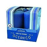 Cereria de Giorgio Melrose ceretti perfumadas, Cera, Azul, 3x 3x 5.5cm, 4Unidad