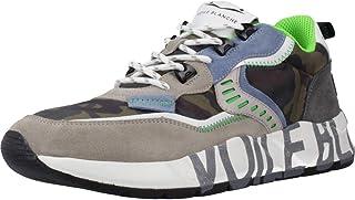 VOILE BLANCHE Art Club01 Sneaker Uomo Comoda in Tessuto e Pelle