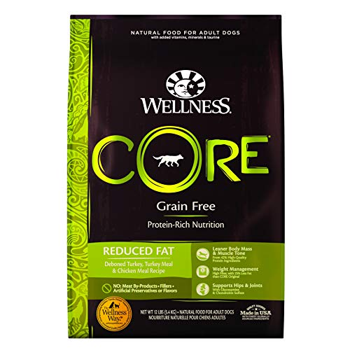 Wellness CORE Natural Grain Free Dry Dog Food, Reduced Fat, 12-Pound Bag