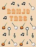 Banjo Tabs: Banjo Taccuino | Escriba su propia música de la tablaturas de la Banjo! | Partituras de papel en blanco para canciones y acordes de Banjo | Cuaderno De Tablatura Para Banjo