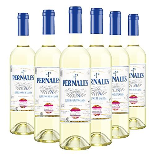 Pernales Seco Moscatel - Pack 6 botellas de 75 cl - Vino blanco D.O.'Sierras de Málaga'