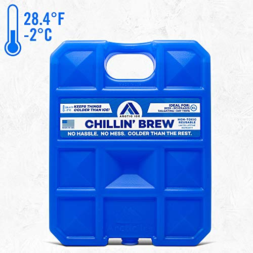 Long Lasting Ice Pack for Coolers, Camping, Fishing and More, X-Large Reusable Ice Pack, Chillin' Brew Series by Arctic Ice