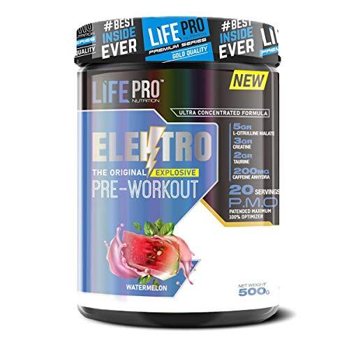 Life Pro Elektro 500g | Pre Workout en Polvo | Suplemento Pre Entreno | Nueva Formula (WATERMELON)