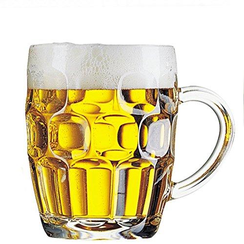 Arcoroc Confezione 3 Calici Birra con Manico 28 cl Linea Britannia Mug Calice Birra Classico Boccale Giarra