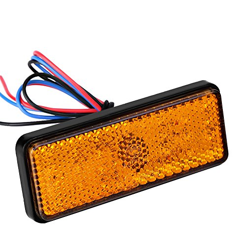 Keenso Feu de clignotant universel 24 LED 12 V pour scooter, VTT, cyclomoteur, tricycles (Ambre)