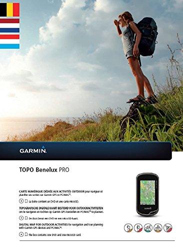 Garmin Carte vectorielle topographique Topo Benelux Pro, Noir, uni