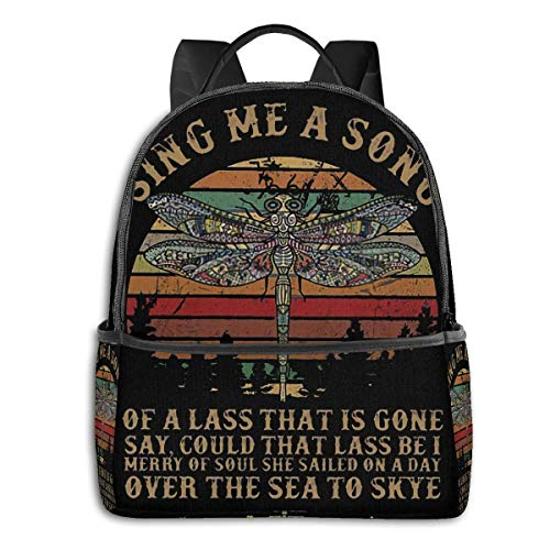 Adhyr Outlander Fly Sing Me A Song Student Black Edge Backpack