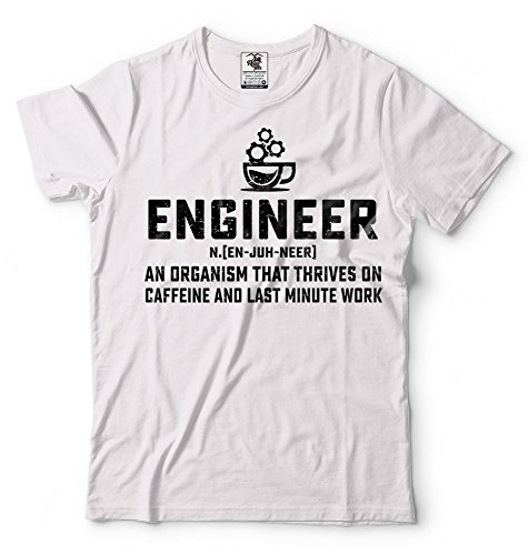 Silk Road Tees Ingeniero Camiseta Divertida Camiseta del café de los Hombres Regalo para papá Ingeniero La cafeína del café Amante Regalo de cumpleaños Camiseta