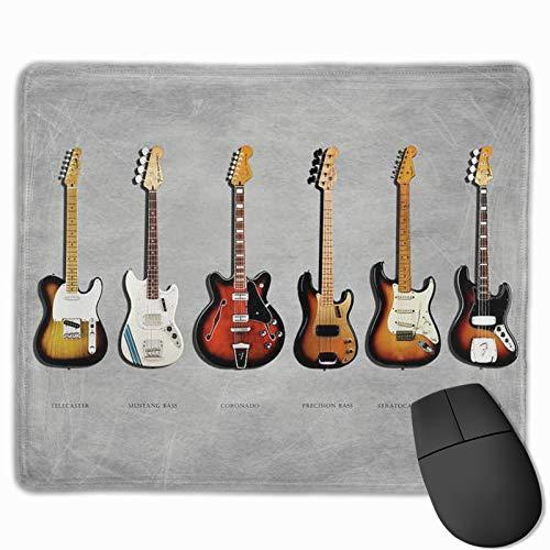 Alfombrilla de ratón con diseño personalizado, para bajo Mustang Bass Fender eléctrica, 250 x 300 x 3 mm.