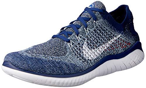 Nike Herren Free Rn Flyknit 2018 Leichtathletikschuhe, Mehrfarbig (Blue Void/White/Blue Tint/Red Orbit 402), 40 EU