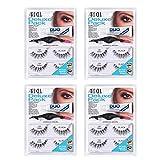 Ardell False Eyelashes Deluxe Pack 120 Black (Adhesive, False Eyelashes, Applicator kit) x 4 Pack