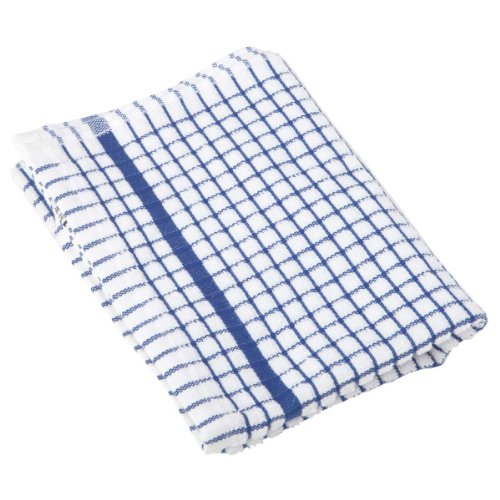 tea cloths Lamont 1 Dozen Original Poli-Check Tea Towel Kitchen Dish Towels Poli Dri, 12 Pack (Blue)