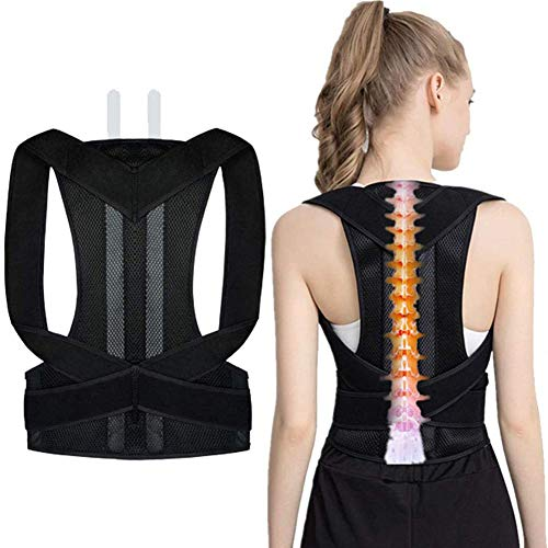 Zidao Posture Correction, Position Correction, Scoliosis Humpback Correction Belt Posture Correction Full Back Support for Men Women Adult Students Children,Schwarz