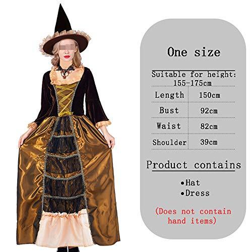 HALLOWEEN-COSTUMES Royal Heks Kostuum Cosplay Masquerade Fancy Lange jurk voor volwassenen, Heks Hoed