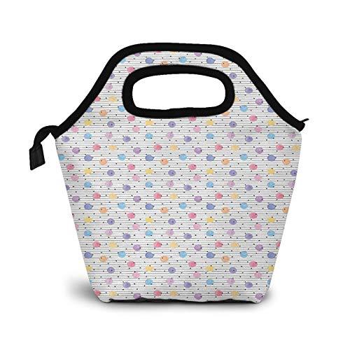Bolsa Térmica Comida Bolsas De Almuerzo para Mujeres Hombres Niñas Niños Bolsa Isotérmica De Almuerzo Pastel sobre horizontal