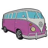 Imán para la nevera, diseño original de Volkswagen VW Campervan, color rosa