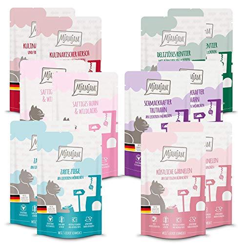 MjAMjAM Mixpaket V 2*Wildlachs, 2*Garnele, 2*Hirsch, 2*Rentier, 2*Ziege, 2*Truthahn 12 x 125g, 1er Pack (1 x 1.5 kilograms)