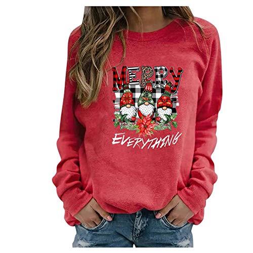 SicongHT T-Shirt Damen Weihnachtspullover Bluse Weihnachten Langam Tops Frauen...