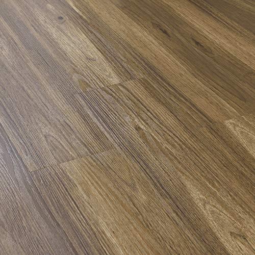 neu.holz] Vinyl Laminat 1 m² Eiche Bodenbelag Selbstklebend rutschfest 7 Dekor-Dielen für Fußbodenheizung