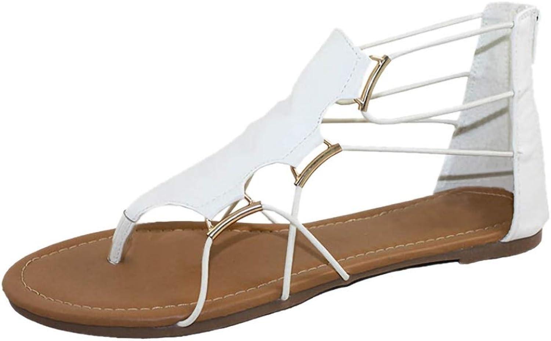 Hoxekle Woman Roman Style Cross Elastic Strap Flats Snadals Summer Retro Open Toe Beach Thong Flip Flops