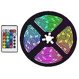 Didad Tira de Luces LED de 5 M, Tiras de Luz RGB Que Cambian de Color Flexibles una Prueba de Agua para JardíN, Dormitorio, DecoracióN DIY, Enchufe de la UE