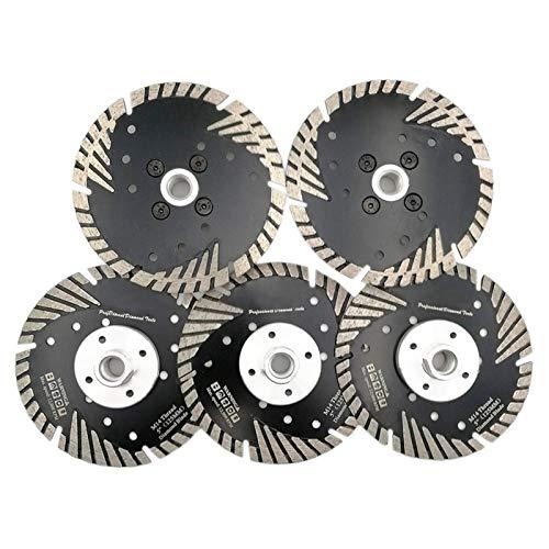 YUNJINGCHENMAN 5pcs 125mm/5 caliente prensado diamante Turbo hoja para hormigón ladrillo baldosas con hilo M14 hojas de sierra disco de corte