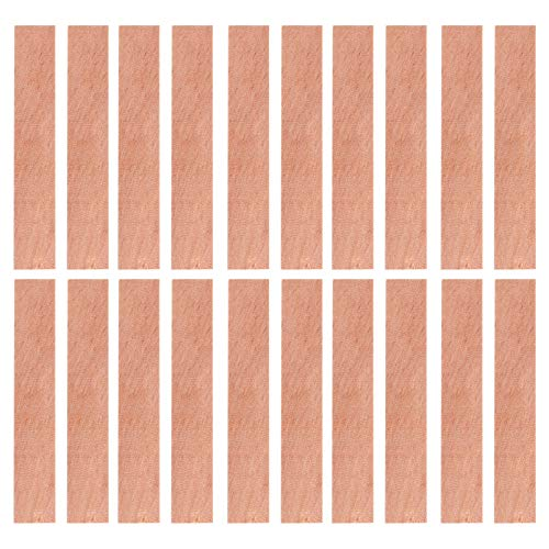 EXCEART 20pcs Wood Candle Wicks Natural Wood Candle Cores Environmental- Friendly Smokeless Candle Holder for DIY Soy Wax Candle Making Craft Supplies 7X0. 8cm