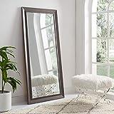 Naomi Home Framed Bevel Leaner Mirror Espresso/66 x 32'