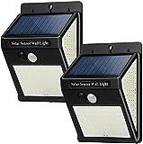 Msoah Luz Solar Exterior 144 LED【2 Pack / 3 Modos】con Sensor...