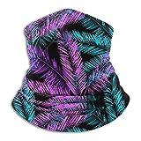 Neck Warmer Gaiter Colorful Palm Leaf Headband Versatility Magic Headwrap Outdoor Sports Black