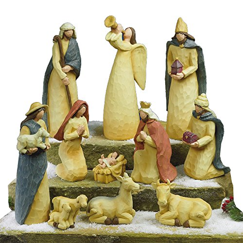 Folk Art Nativity Set