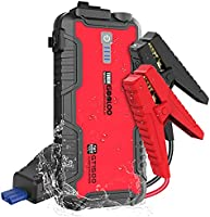 GOOLOO GT1500 1500A Peak SuperSafe Car Jump Starter (Up to 8.0L Gas or 6.0L Diesel Engine) with USB Quick Charge, In &...