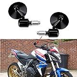 Espejos Retrovisores de Moto, 7/8'' 22mm Retrovisores Moto Espejos Moto Manillar para Chopper Cruiser Scooter Cafe Racer CB1000R CB1300 CB600F CBF600 CBR125R CBF125.