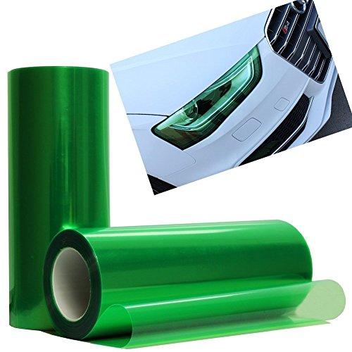 EASYTAR 100 cm x 30 cm Auto Scheinwerfer, Rücklicht, Nebelscheinwerfer Tint Vinylfolie, selbstklebend wasserdicht - Grün