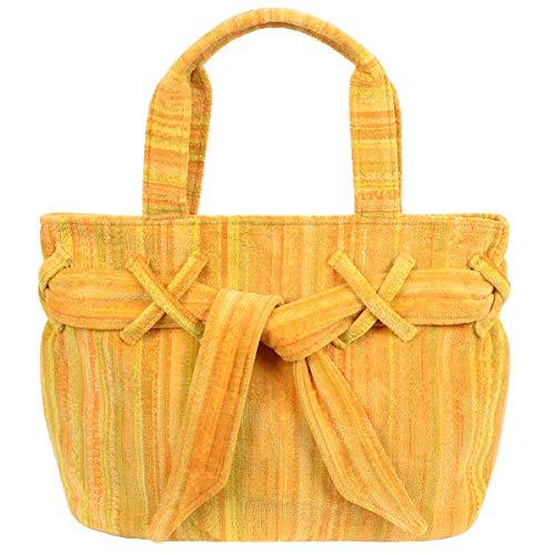 Elaiva Strandtasche, Saunatasche, Badetasche Yellow Shadows aus gelben Frottee
