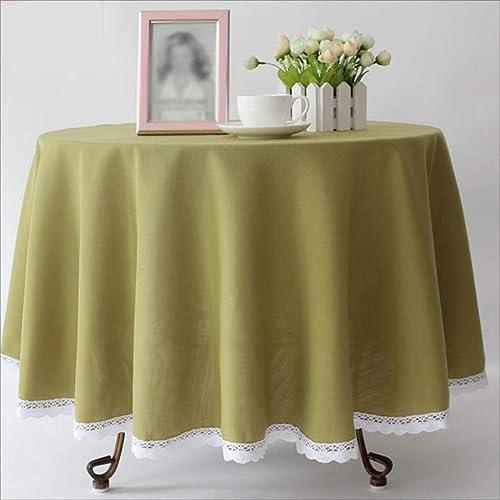 TABLECLOTH Runde Hotel-Normallack-Tischdecke, Kaffee-Tabellen-Bankett-Tischdecke-Western-Restaurant-Konferenz-Picknick-Tischdecke (Farbe   Grün, Größe   260cm)