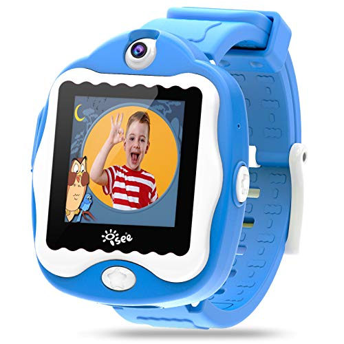 Smart Watch for Kids, Kids Smartwatch with Games, Built-in Selfie-Camera Video Watches, Children Smart Watch for Kids Age 4-12 Birthday Gifts (Blue)