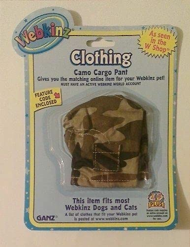 Webkinz Clothes - Camo Cargo Pant