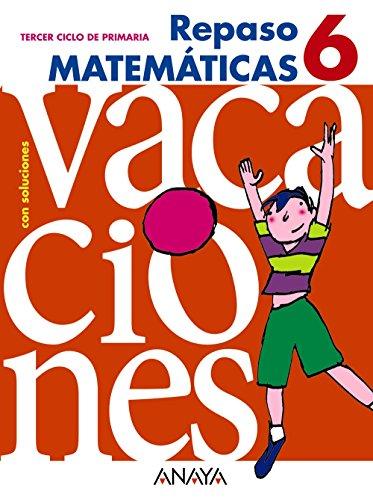 Cuaderno matemáticas 6º educación primaria repaso - 9788466705448 (Cuadernos vacaciones)