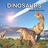 Dinosaurs Calendar 2021-2022: 18 Month Calendar with 18 colored pictures and 18 funny note pages |8.5x8.5 in|January of 2021 -june of 2022 planner |kids,students,Dinosaurs lovers gift