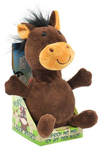 Kögler 75573 - Laber Pferd Hugo, Labertier mit Aufnahme- und Wiedergabefunktion, plappert alles witzig nach und bewegt sich, ca. 18 cm groß, ideal als Geschenk für Jungen und Mädchen