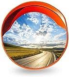 F.L.S Espejo de Tráfico Convexo de Seguridad 45CM Rojo Tráfico Espejo, portátil fácil de Instalar Convexo de Seguridad Espejo de Seguridad Apartamento Comunidad Intersección Punto Ciego Espejo