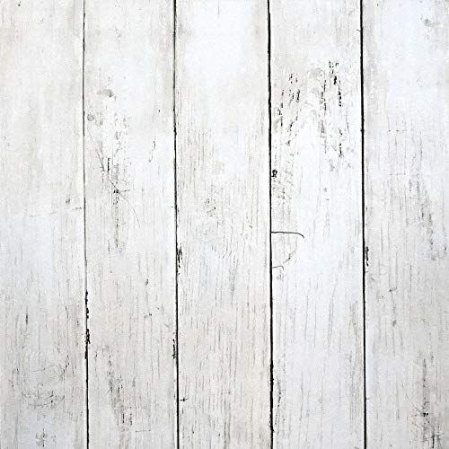 39.37 ft x17.7 in White Wood Wallpaper Wood Peel and Stick Wallpaper White Wallpaper Removable Vintage Wood Plank Wallpaper Self Adhesive Decorative Wall Covering Vinyl Film Shelf Drawer Liner Roll
